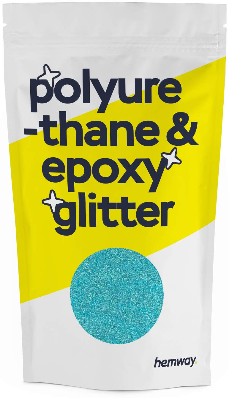 Hemway Metallic Glitter Floor Crystals for Epoxy Resin Flooring (500g) Domestic, Commercial, Industrial - Garage, Basement - Can be Used with Internal & External (Baby Blue)