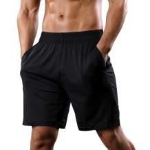 CARWORNIC Men's Athletic Gym Shorts Workout Running Bodybuilding Stretchy Sport Training Shorts