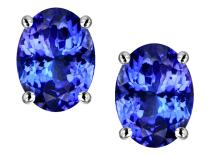 Star K Sterling Silver Oval 8x6mm Classic Earring Studs