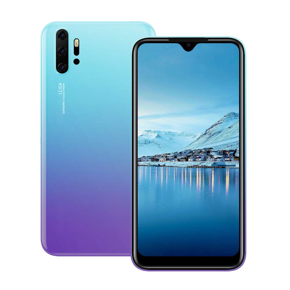 Unlocked Cell Phones, p30Apro 3G (WCDMA:850/2100) Android Smartphone, 6.26inch IPS Full-Screen, Dual SIM,2GB RAM 16GB ROM, Android 7.0 MTK6580 Quad Core,3800mAh(Apply to T-Mobile) Purple
