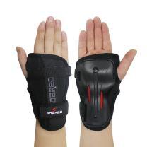 Andux Ski Gloves Extended Wrist Palms Protection Roller Skating Hard Gauntlets Adjustable HXHW-04