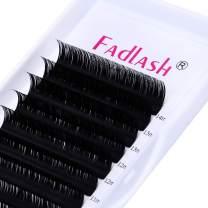 Lash Extensions C D Curl 0.10~0.25mm Supply FADLASH Classic Eyelash Extension Mix Tray Silk Eyelash Extensions Professional (0.10-C, Mix 8-14mm)