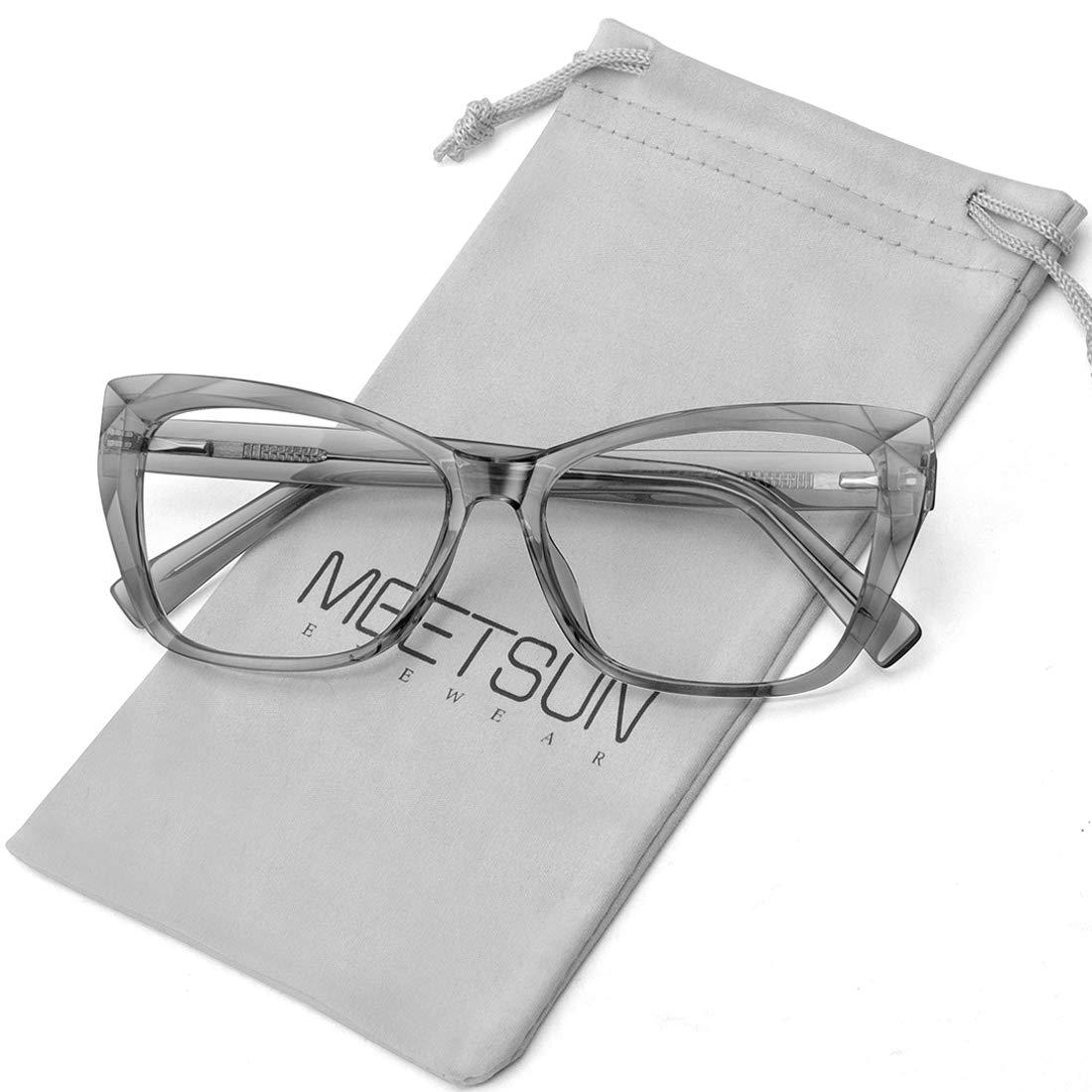 MEETSUN Blue Light Blocking Glasses Women Computer Reading/Gaming/TV/Phones Glasses,Anti Eyestrain