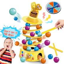kidpal Stacking Board Game for Kids Ages 4-8, Family Games with Kids, Tabletop Game for Adults and Child, Tumbling Toys for Age 5 6 7 9 10 Years Old up Boys & Girls, Educational Game Toys for Children