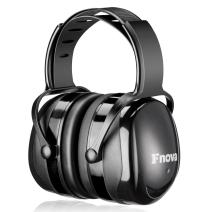 Fnova 34dB Highest NRR Safety Ear Muffs - Professional Ear Defenders for Shooting, Adjustable Headband Ear Protection/Shooting Hearing Protector Earmuffs Fits Adults to Kids