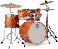 MAPEX ST5045FIC Storm 5 Piece Fusion Drum Set with Chrome Hardware, Camphor Wood Grain