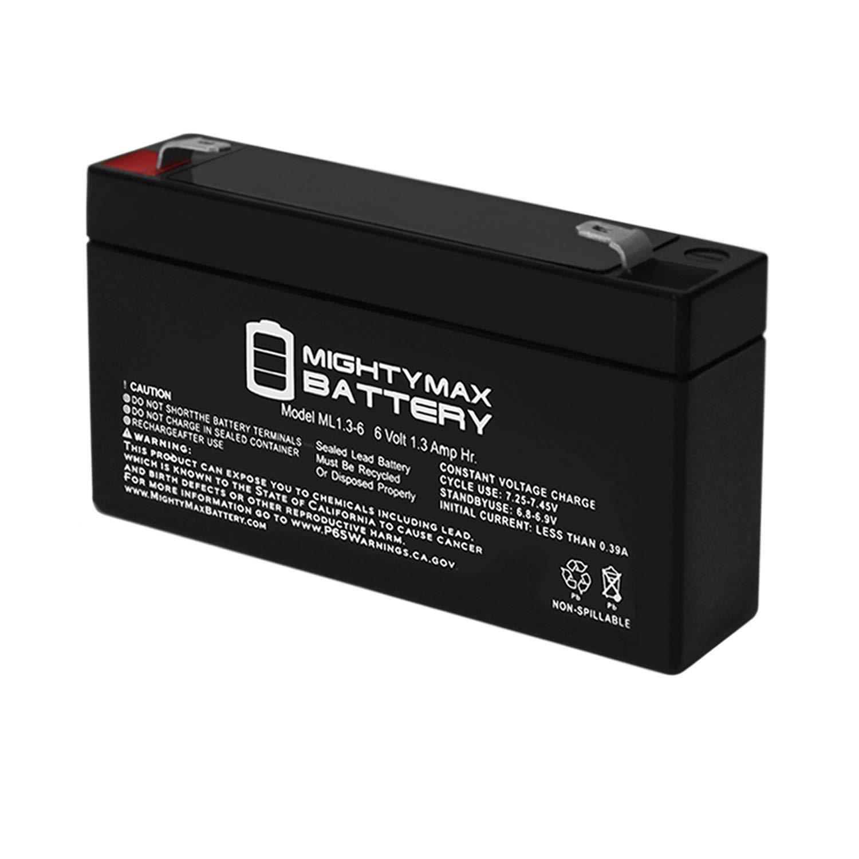 ML1.3-6 - 6V 1.3AH SLA Battery - Mighty Max Brand Product