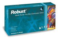"Aurelia Robust Nitrile Glove, Powder Free, 9.4"" Length, 5 mils Thick, Medium (Pack of 100)"