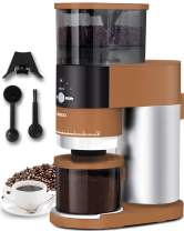 Coffee Grinder, ENZOO Conical Burr Grinder with Detachable Design for Easy Cleaning, 40 Precise Grind Setting for Espresso, Drip Coffee, French Press and Percolator Coffee (brown)