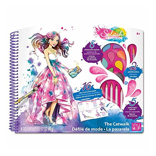 Style Me Up Art Supplies Set with Stickers, Paint, Brushes, Watercolor Pencils