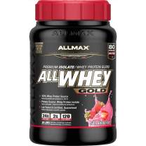 Allmax Nutrition Allwhey Gold 3 Stage Whey Protein Matrix Strawberry -- 2 lbs