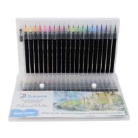 Dunamis Watercolor Brush Pens, Calligraphy Pen, Best Real Soft Brush Markers for Adult and Kids Coloring Books, Drawing, Calligraphy, Writing and More. Non Toxic. Acid Free. Set of 20 Pens