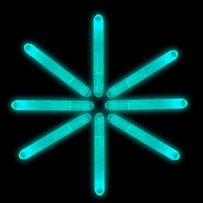 Lumistick 2 Inch Mini Glowsticks - Ultra Bright Glow in The Dark Party Favors Neon Light Sticks - Freshly Made Illuminating Water Proof Fluorescent Sticks Brightest 4-6 hrs (Aqua, 200 Glow Sticks)