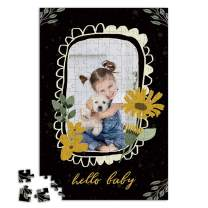 Custom Photo Jigsaw Puzzle for Adults 300 Pieces - Hello Baby Personalized Photo Funny Gifts Custom Puzzles from Photos for Kids Mother's Day Wedding Gift Family Friend