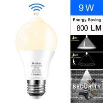 Motion Sensor Light Bulbs, Wudiac 9W (80-Watt Equivalent) E26 Motion Activated Dusk to Dawn Security Light Bulb Outdoor/Indoor for Front Door Porch Garage Basement Hallway Closet (Warm White)