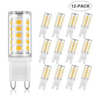 SumVibe G9 LED Bulb 4W, 40W G9 Halogen Bulb Replacement, 400LM, Warm White 3000K, G9 Base Non-Dimmable Light Bulbs, 12-Pack