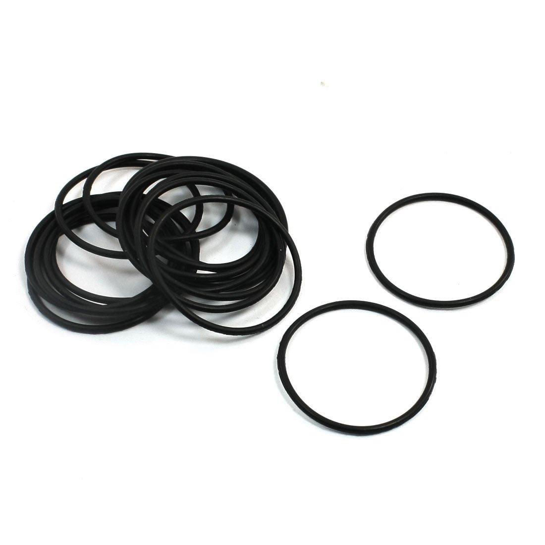 uxcell Nitrile Rubber O-Rings, 31mm OD 28mm ID 1.5mm Width, Metric Buna-N Sealing Gasket, Pack of 20