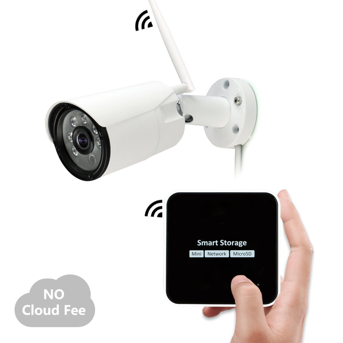 Wireless Mini Security Camera Storage Surveillance System with 1080P Night Vision Motion Activated Cam, Design for Home User, Easy to use, TT12CN-1