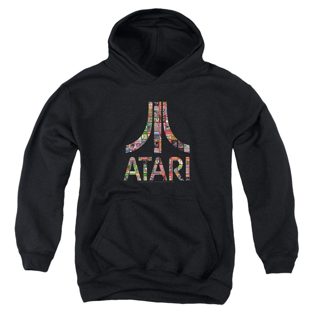 Atari Video Game Console Retro Logo Kids Youth Pullover Hoodie & Stickers
