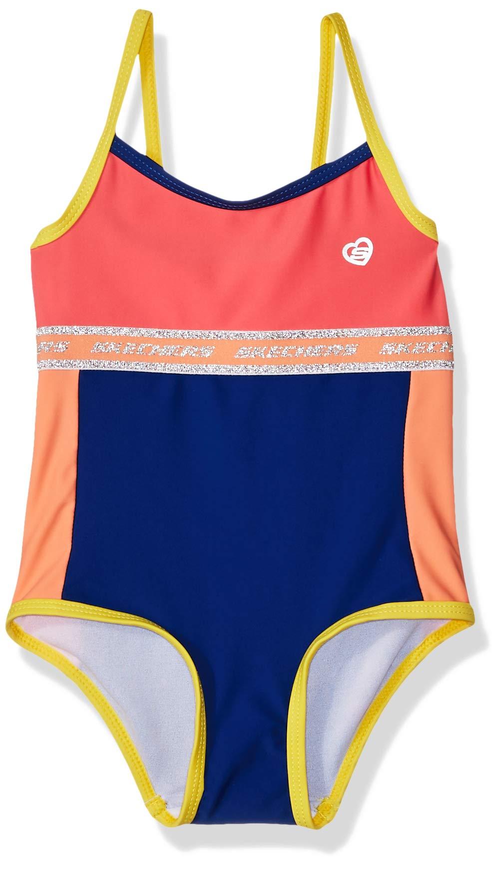 Skechers Girls' Baby 1-Piece Swim Suit Bathingsuit
