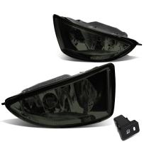 Replacement for Honda Civic 2/4-Door EM2/ES1/ES2 Pair of Bumper Driving Fog Lights + Wiring Kit + Switch (Smoked Lens)