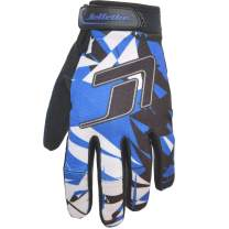 GP-30 Jet Ski Ride Gloves - Shattered PWC Race Gear (Blue, Small)