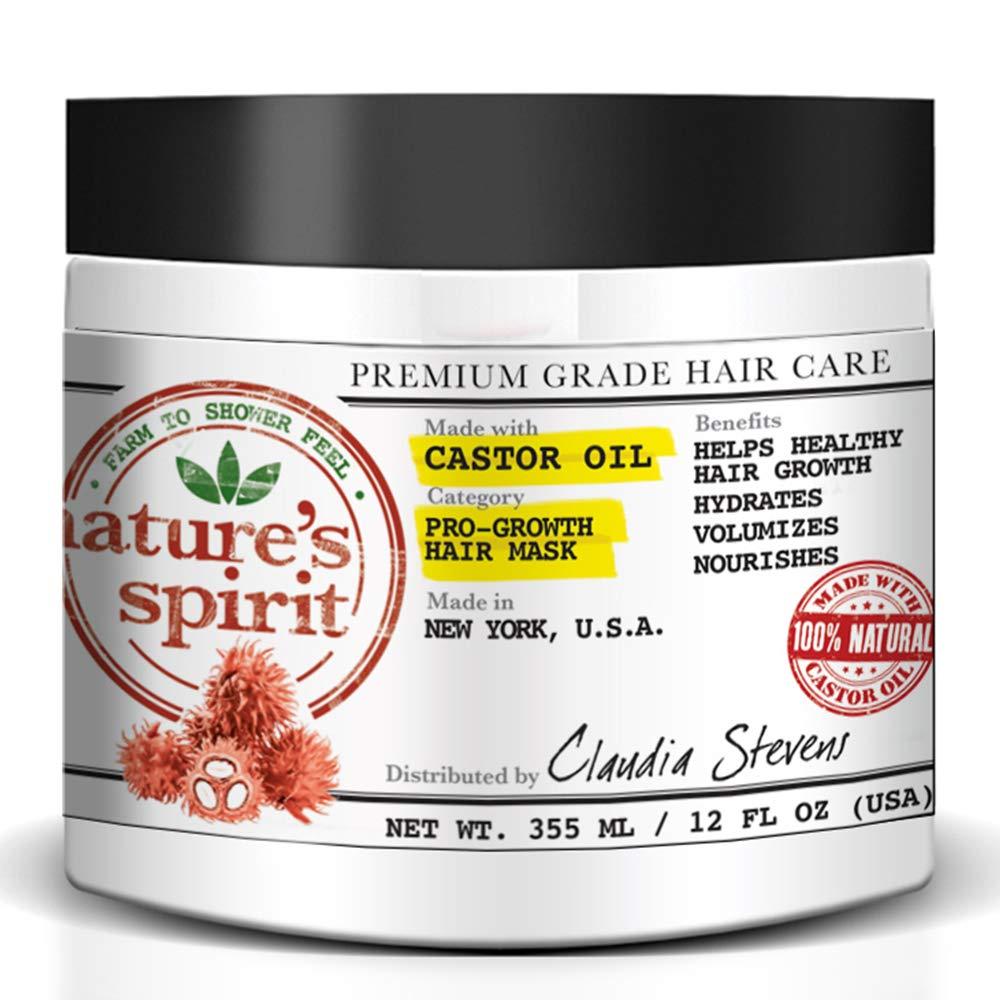 Nature's Spirit Castor Oil Hair Mask 12 ounce (Pack of 2)