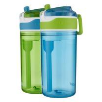 Contigo Water Bottles, 2 In 1, Blue/Green
