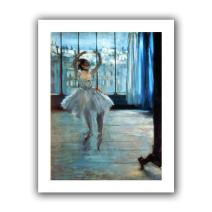 ArtWall 'Dancer in Front of a Window Dancer at The Photographer's Studio' Unwrapped Flat Canvas Artwork by Edgar Degas, 52 by 40-Inch