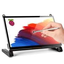 Raspberry Pi Touchscreen Monitor, Upgraded 7'' IPS 1024X600 Dual-Speaker,USB HDMI Portable Monitor Capacitive Pi Display,Compatible with Raspberry Pi 3b+/Raspberry Pi 4b, Windows 7/8/10,Drive-Free