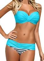 Aleumdr Women Swimwear Two Piece Push Up Bikini Swimsuits Padded Bathing Suits