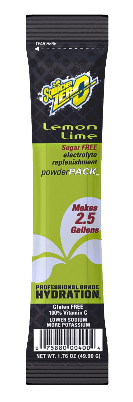 Sqwincher Zero Powder Pack Sugar Free, Lemon Lime, 1.76 oz (Pack of 32)
