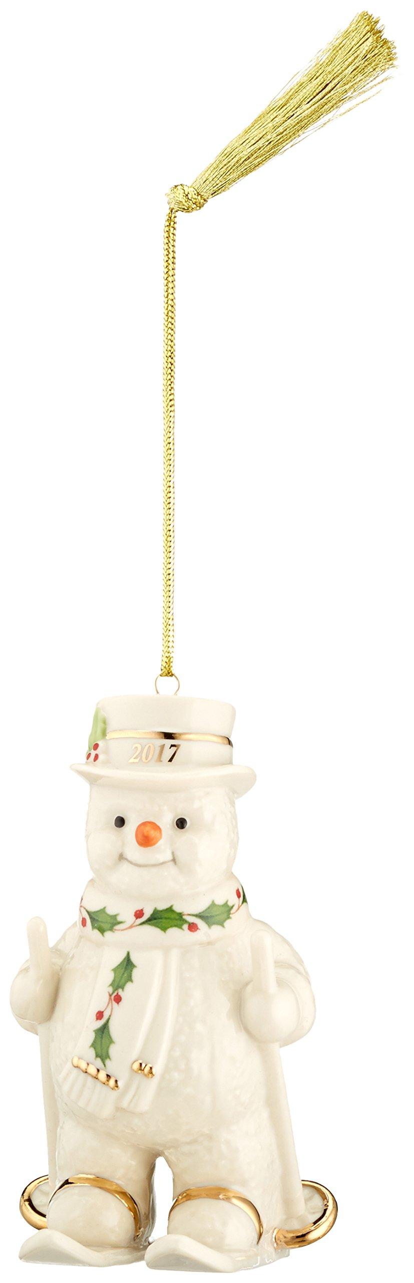 Lenox 869900 Annual China Ornaments 2017 Happy Holly Days Fresh Powder Snowman
