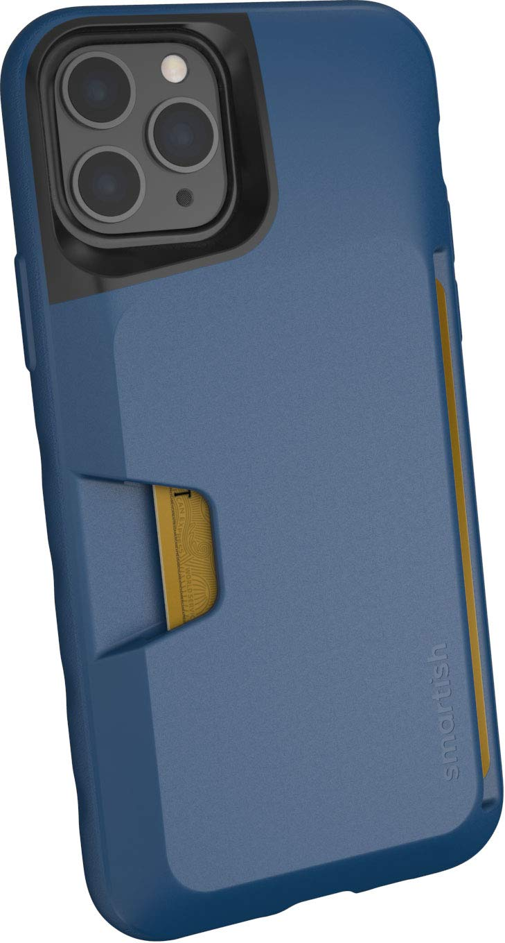 Smartish iPhone 11 Pro Wallet Case - Wallet Slayer Vol. 1 [Slim + Protective] Credit Card Holder (Silk) - Blues on The Green