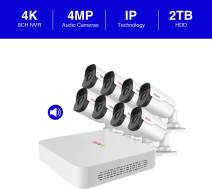 REVO America RU81B8G-2T Ultra HD 8-CH 2TB NVR Surveillance System with 8 x 4 Megapixel Bullet Cameras (White)