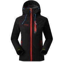 SAENSHING Women's Waterproof Softshell Jacket Outdoor Raincoat Camping Hiking Mountaineering Jackets