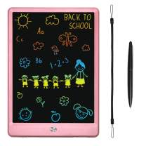 KURATU LCD Writing Tablets for Kids 10 inch Colorful Screen Electronic Drawing Pads Writing Board & Drawing Tablet Doodle Board Writing Tablets (Pink)