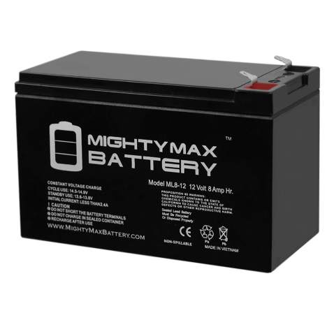 ML8-12 - 12 Volt 8 AH SLA Battery - Mighty Max Battery Brand Product