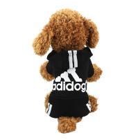 Idepet Cotton Adidog Dog Hoody Cloth Outfit,S, Black