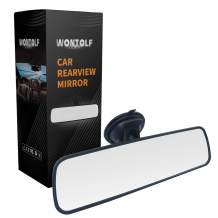 """Wontolf Rear View Mirror Universal Rearview Mirror Interior Anti-glare RearView Mirror with Suction Cup for Car Truck SUV 9.5""""(240mm)"""