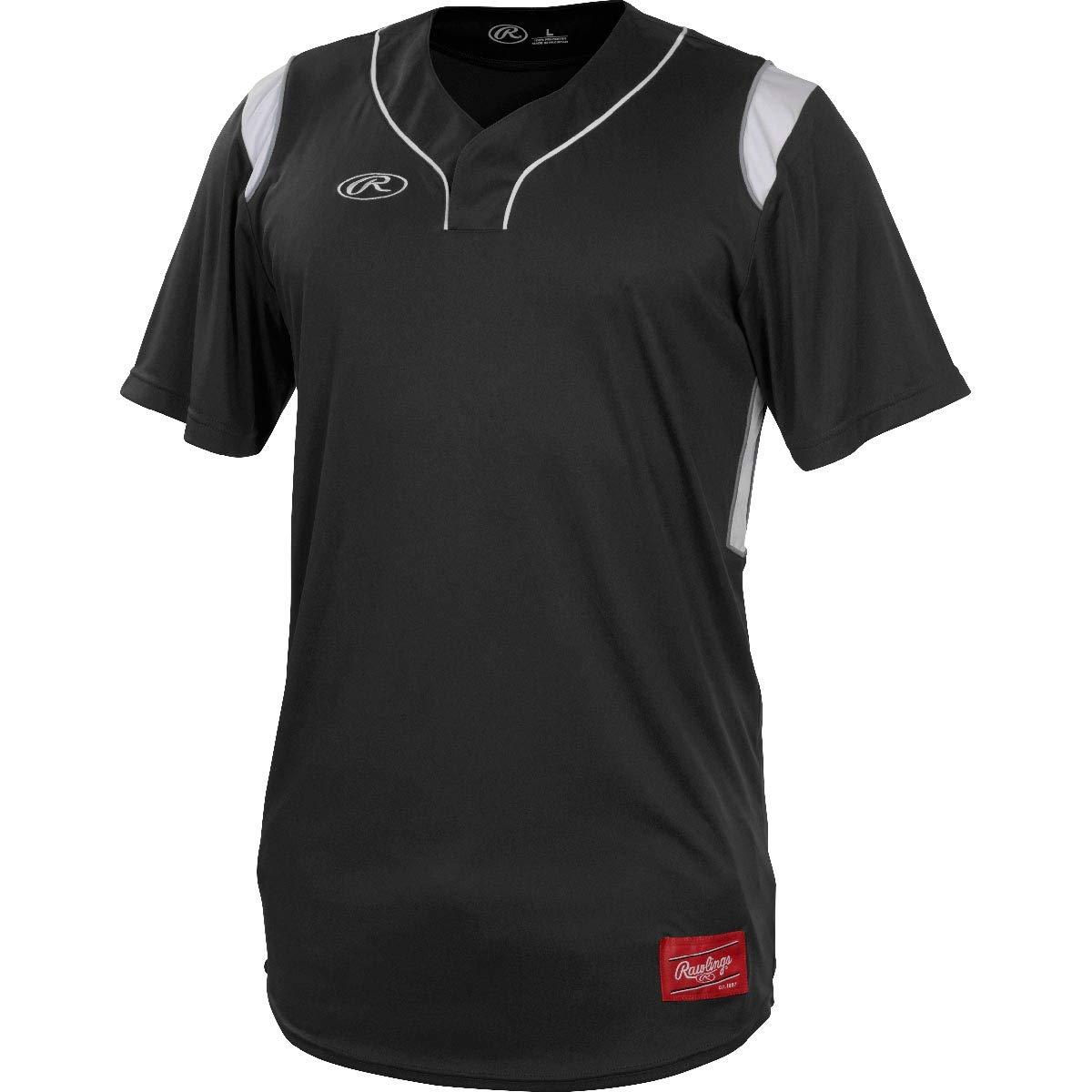 Rawlings Men's Game/Practice Hidden Button Baseball Jersey Series