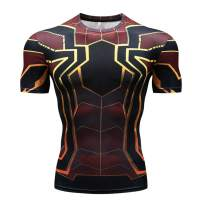RONGANDHE Men's Super-Hero Compression Sports Fitness T-Shirt Quick-Drying