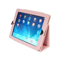Kyasi Seattle Classic Folio Case Cover Stand in Premium PU Leather for Apple iPad Air, Blush Pink
