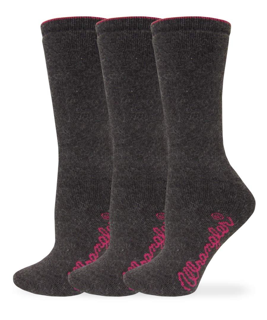 Wrangler Women's Ladies Cushion Angora Crew Socks 3 Pair Pack