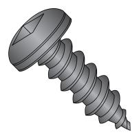 """Steel Sheet Metal Screw, Black Oxide Finish, Pan Head, Square Drive, Type A, #6-18 Thread Size, 1/2"""" Length (Pack of 100)"""