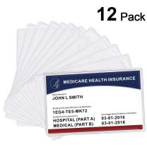 MaxGear 12 Pack New Medicare Card Holder Protector Sleeves, 12 Mil Clear PVC Waterproof Medicare Card Protectors Sleeves for New Medicare Card Credit Card Business Cards Social Security Card Protector
