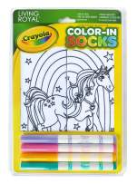 Crayola Kid's Color-In Socks - Includes 1 Pair Of Socks And 4 Fabric Markers by Living Royal (Unicorn Land)