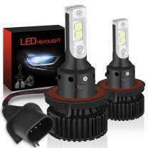 KATUR H13 LED Headlights Bulbs Hi/Lo Beam Super Bright CREE Chips 16000LM Waterproof All-in-One LED Headlight Conversion Kit 60W 6500K Xenon White - 3 Yr Warranty