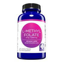 MD. Life L Methylfolate 5mg – Active Folate 5-MTHF, Professional Strength Methyl Folate - Immune Support, Essential Amino Acids Vegan - 90 Purple Carrot Capsules