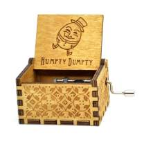 Sooye Humpty Dumpty Music Box- 18 Note Mechanism Antique Carved Music Box Crafts Toys Desk Decoration(Humpty Dumpty)